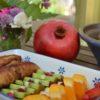 Rostige Ritter mit Obst
